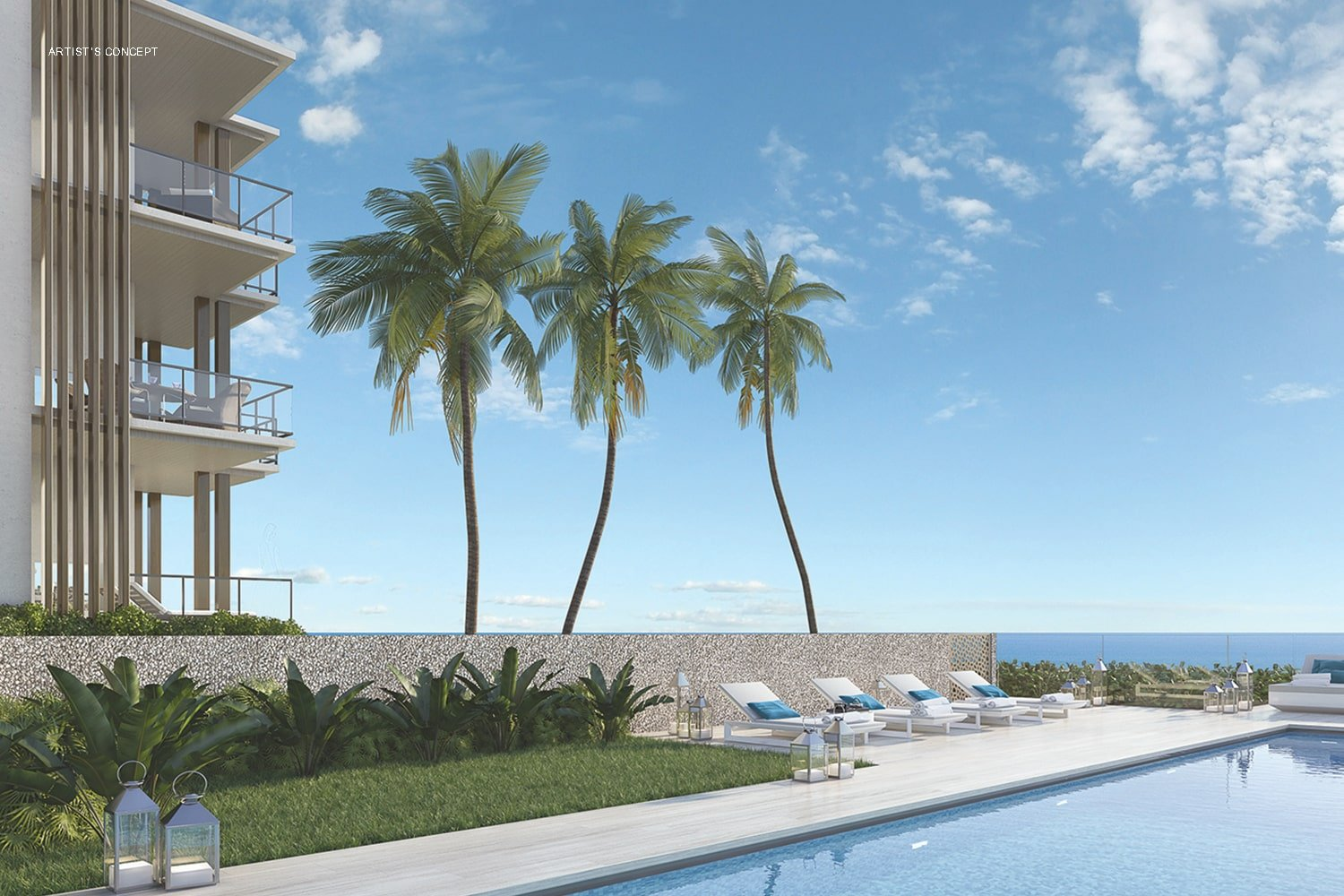 Oceanfront Pool and Pool Deck at Ocean Delray